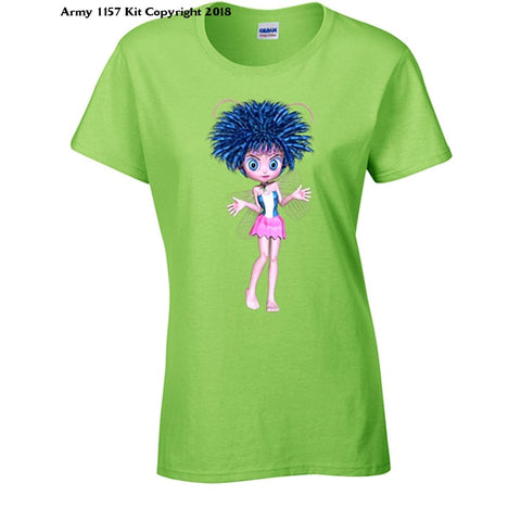 Bear Essentials Clothing. Funky Fairies Blue T-Shirt - 18 / Green - Apparel