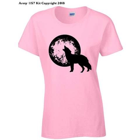 Bear Essentials Clothing. Howl At The Moon T-Shirt (S White) - X-Large / Pale Pink - Apparel