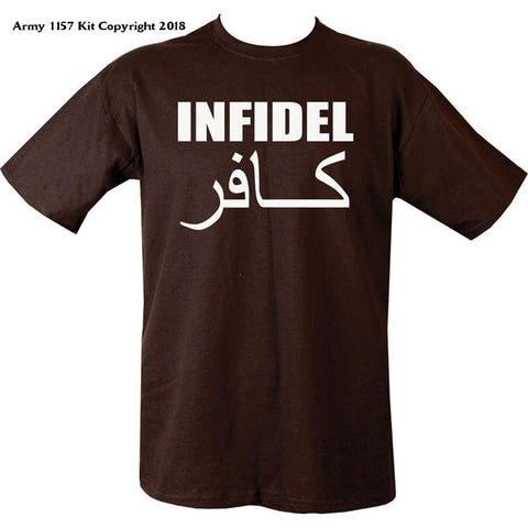 Bear Essentials Clothing. Infidel T-Shirt - Army 1157 Kit  Veterans Owned Business