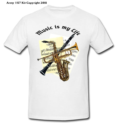 Bear Essentials Clothing. Music Is My Life - Army 1157 Kit  Veterans Owned Business