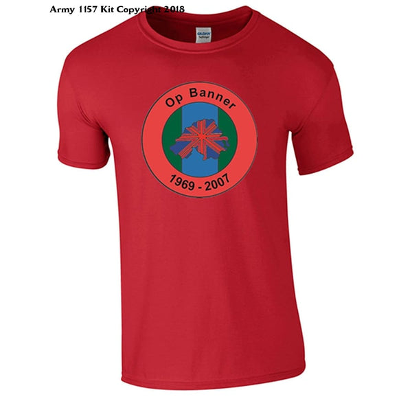 Bear Essentials Clothing. Northern Ireland Ops Banner T-Shirt - Small / Red - Apparel