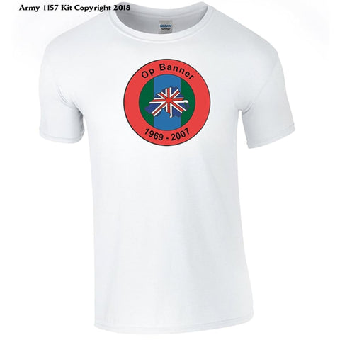 Bear Essentials Clothing. Northern Ireland Ops Banner T-Shirt - Army 1157 Kit  Veterans Owned Business