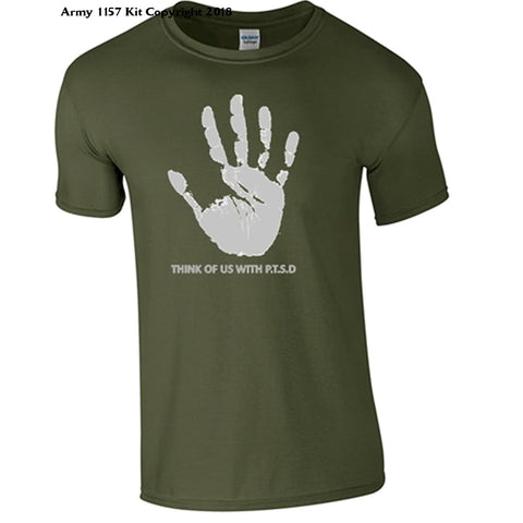 Bear Essentials Clothing. PTSD T-Shirt (XXL, Green) - Army 1157 Kit  Veterans Owned Business