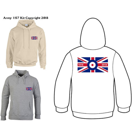 Bear Essentials Clothing. RAF 100 Years Hoodie - Army 1157 Kit  Veterans Owned Business