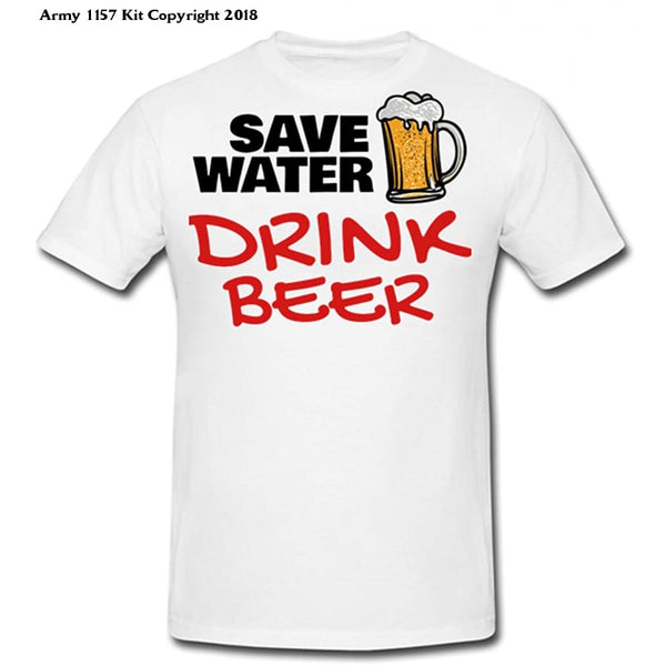 Bear Essentials Clothing. Save Water T-Shirt - Small - Apparel