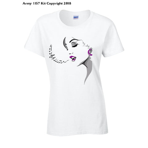 Bear Essentials Clothing. Singing Lady T-Shirt - 10 / White - Apparel