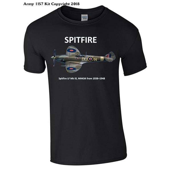 Bear Essentials Clothing. Spitfire T-Shirt - Army 1157 Kit  Veterans Owned Business