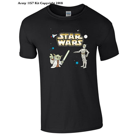 Bear Essentials Clothing. Star Wars Charactert-Shirt - 3-4 Years / Black - Apparel