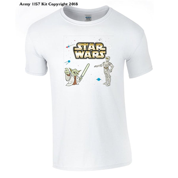 Bear Essentials Clothing. Star Wars Charactert-Shirt - 3-4 Years / White - Apparel