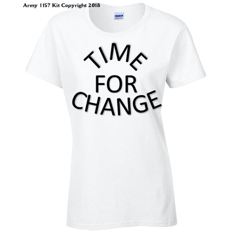Bear Essentials Clothing. Time For Change T-Shirt - Army 1157 Kit  Veterans Owned Business