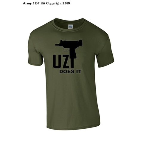 Bear Essentials Clothing. Uz T-Shirt - Army 1157 Kit  Veterans Owned Business