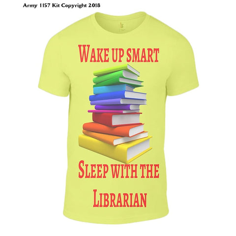 Bear Essentials Clothing. Wake Up Smart Sleep With The Librarian (Xxl White) - Small / Yellow - Apparel
