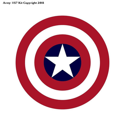 Captain America's Button (Size is 1.5 inch/38mm diameter) - Army 1157 Kit  Veterans Owned Business