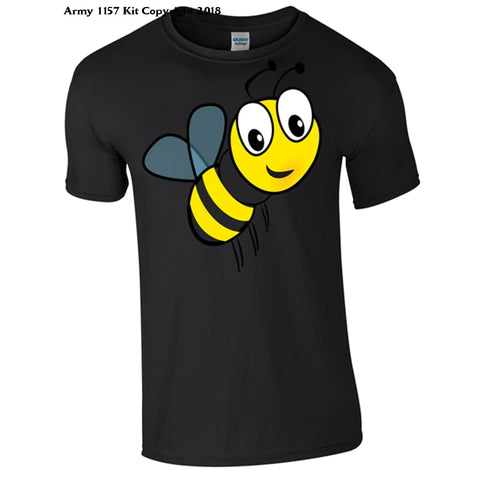 Childrens Bee T-Shirt - 3-4 Years / Black - T Shirt