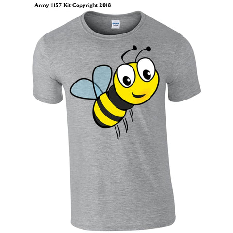 Childrens Honey Bee T-Shirt - 3-4 Years / Grey - T Shirt