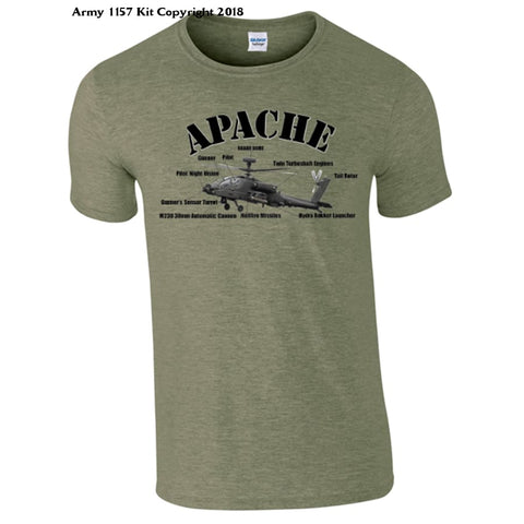 Childs Apache T-Shirt - Army 1157 Kit  Veterans Owned Business
