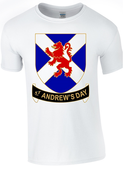 St Andrew's Day Celebration T-Shirt - Army 1157 Kit  Veterans Owned Business