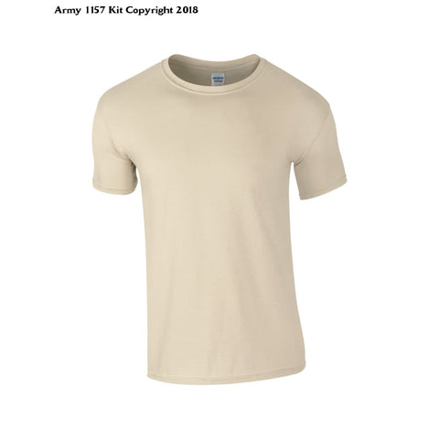 Customize Ministry Of Defence T-Shirt With Any Logo Front Only. Official Mod Approved Merchandise - S / Sand