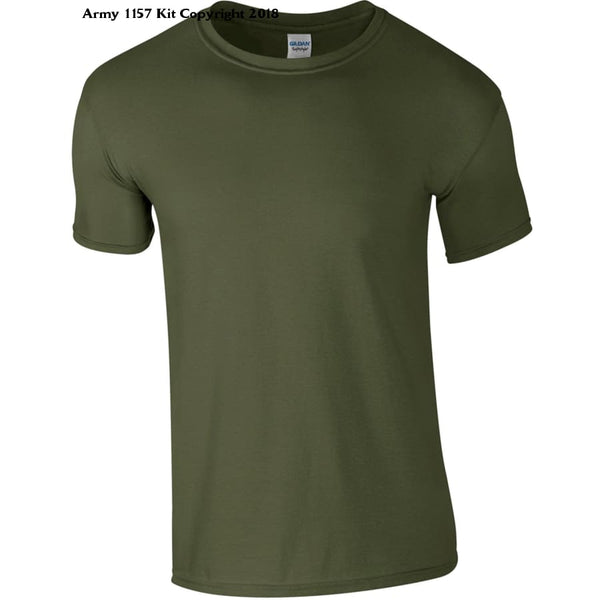 Customize Ministry Of Defence T-Shirt With Logo Front And Back. Official Mod Approved Merchandise - S / Green