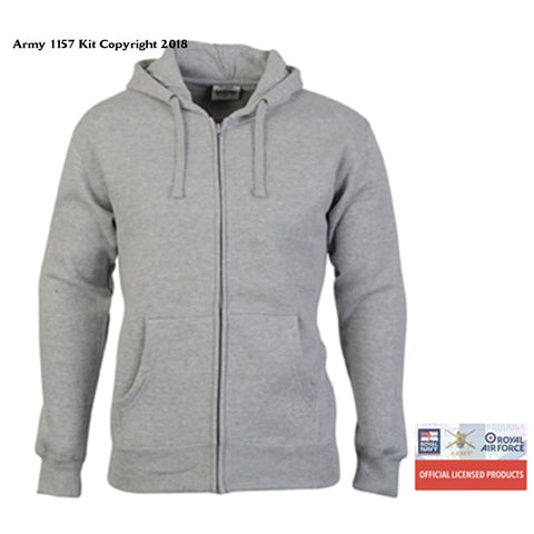 Customize Ministry Of Defence Zip Hoodie With Military Logo Front Only. Official Mod Approved Merchandise