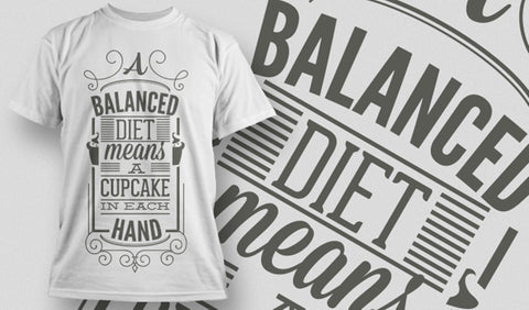 Balanced Diet T-Shirt - Army 1157 Kit  Veterans Owned Business