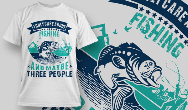 I only Care about Fishing - Army 1157 Kit  Veterans Owned Business