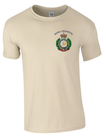 Royal Engineers T-Shirt Front Logo only Official MOD Approved Merchandise - Army 1157 Kit  Veterans Owned Business