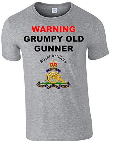 Grumpy Old Gunner T-Shirt - Army 1157 Kit  Veterans Owned Business