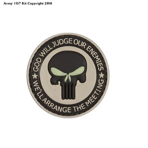 God Will Judge Our Enemies Tan Pvc Airsoft Velcro Patch - Apparel