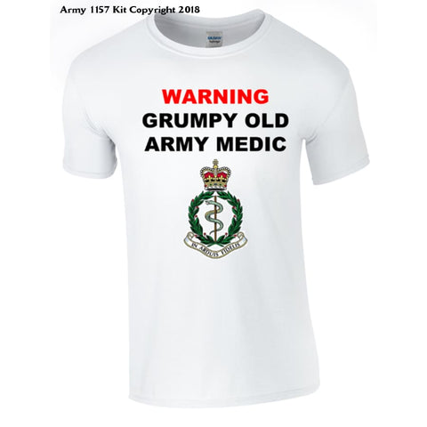 Grumpy Army Medic T-Shirt - Army 1157 Kit  Veterans Owned Business