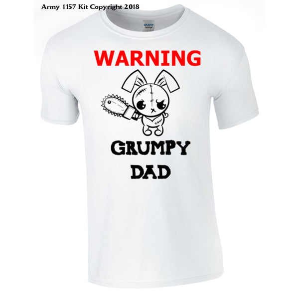 Grumpy Dad T-Shirt Printed Dtg (Direct To Garment) For A Permanent Finish. - S