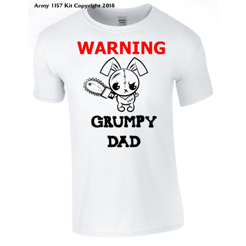 Grumpy Dad T-shirt Printed DTG (Direct to Garment) for a permanent finish. - Army 1157 Kit  Veterans Owned Business
