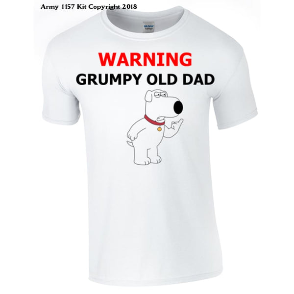 Grumpy Old Dad T-Shirt Printed Dtg (Direct To Garment) For A Permanent Finish. - S - T Shirt