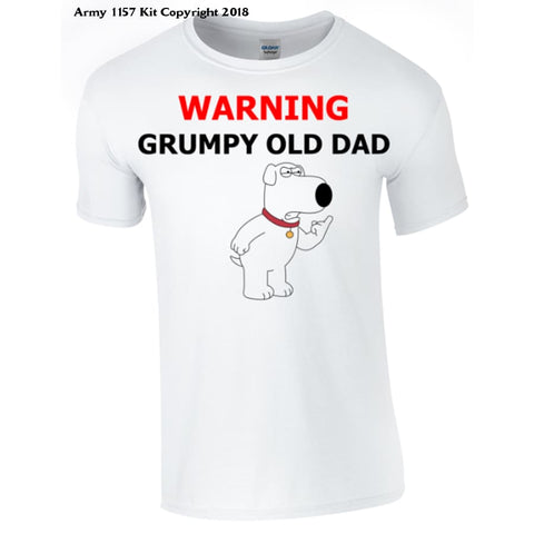 Grumpy Old Dad T-shirt Printed DTG (Direct to Garment) for a permanent finish. - Army 1157 Kit  Veterans Owned Business