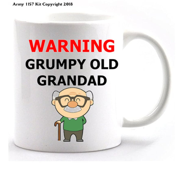 Grumpy Old Grandad Mug and Gift Box Set - Army 1157 Kit  Veterans Owned Business