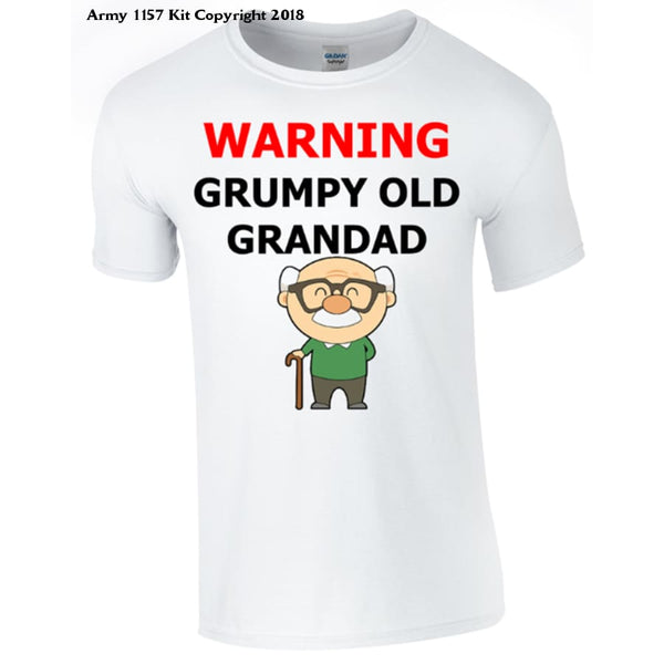Grumpy Old Grandad T-shirt Printed DTG (Direct to Garment) for a permanent finish. - Army 1157 Kit  Veterans Owned Business
