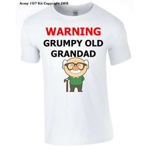 Grumpy Old Grandad T-Shirt Printed Dtg (Direct To Garment) For A Permanent Finish. - Sm - T Shirt