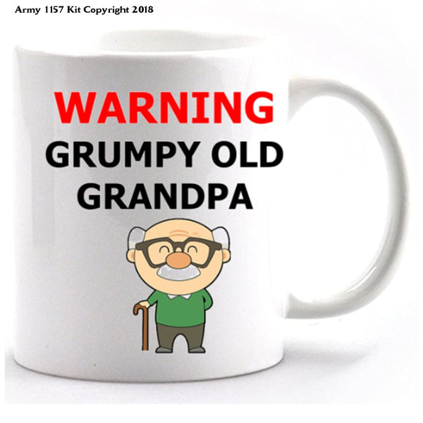 Grumpy old Grandpa Mug and Gift Box Set - Army 1157 Kit  Veterans Owned Business