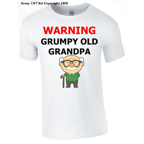 Grumpy Old Grandpa T-Shirt Printed DTG (Direct to Garment) for a permanent finish. - Army 1157 Kit  Veterans Owned Business