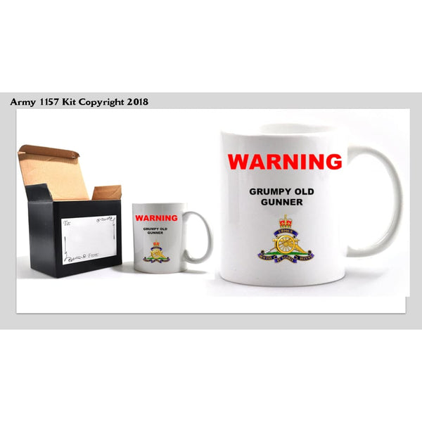 Grumpy Old Gunner Mug and Gift Box Set - Army 1157 Kit  Veterans Owned Business
