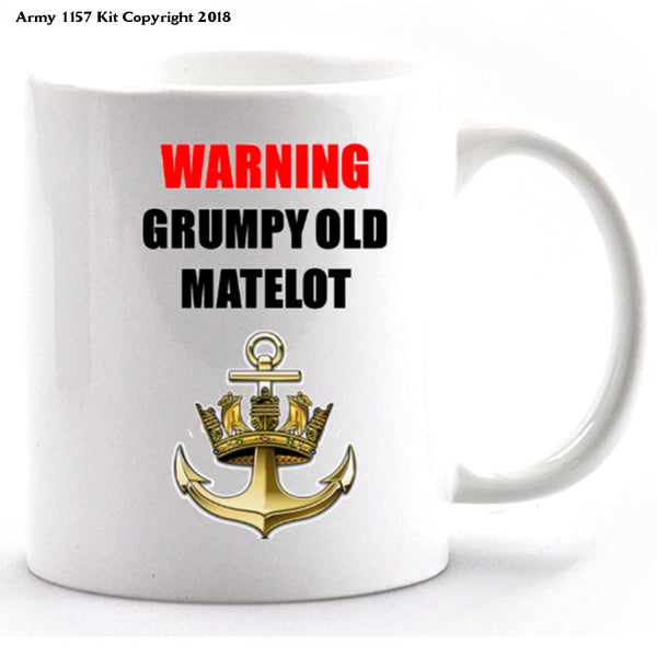 Grumpy Old Matelot Mug and gift box set - Army 1157 Kit  Veterans Owned Business