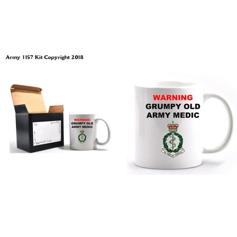 Grumpy Old Medic Mug & Gift Box Set - Army 1157 Kit  Veterans Owned Business