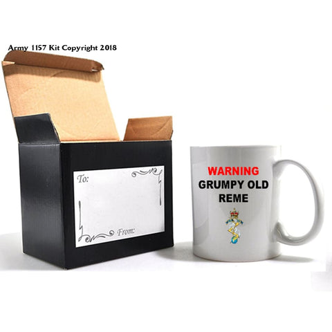 Grumpy Old REME Mug and Gift Box Set - Army 1157 Kit  Veterans Owned Business