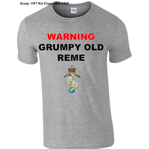 Grumpy Old REME T-Shirt - Army 1157 Kit  Veterans Owned Business