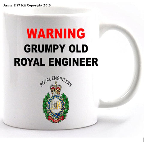 Grumpy old Royal Engineer Mug and Gift Box Set - Army 1157 Kit  Veterans Owned Business