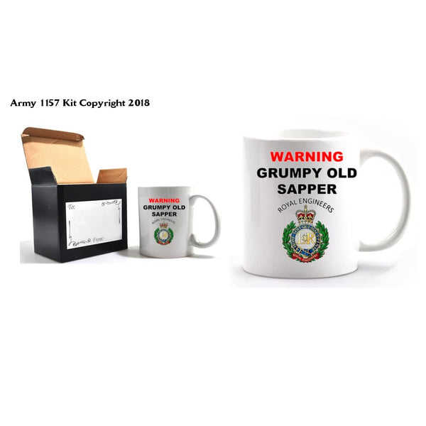 Grumpy Old Sapper Mug and Gift Box Set - Army 1157 Kit  Veterans Owned Business