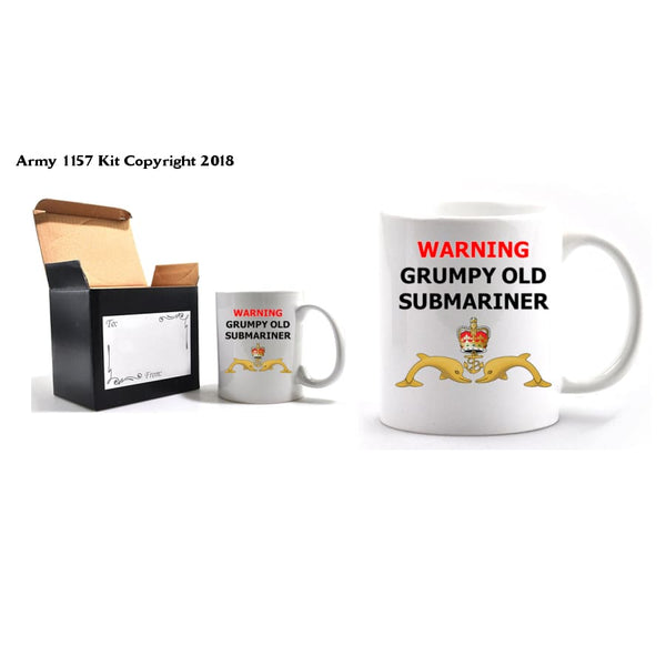 Grumpy Old Submariner Mug and Gift Box Set - Army 1157 Kit  Veterans Owned Business