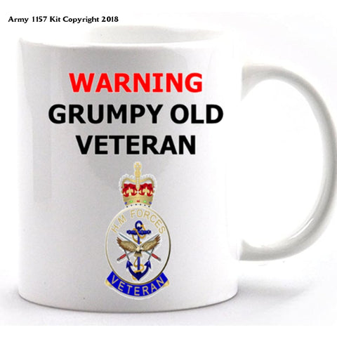 Grumpy Old Veteran Mug and Gift Box Set - Army 1157 Kit  Veterans Owned Business