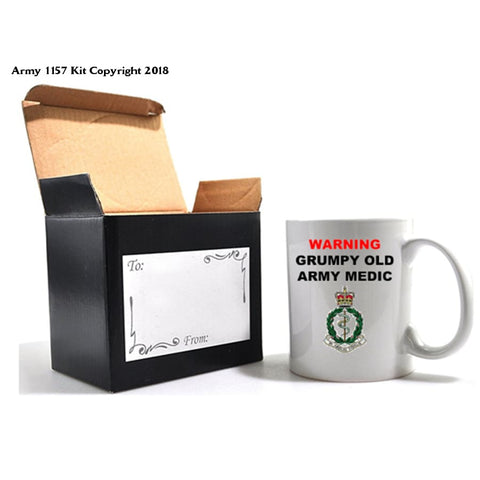 Grumpy Old Veterans Mug & Gift Box Set - 11Oz / Army Medic - Home
