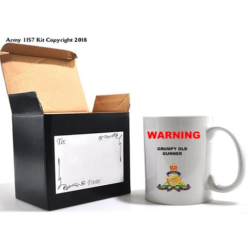Grumpy Old Veterans Mug & Gift Box Set - 11Oz / Royal Artillery - Home